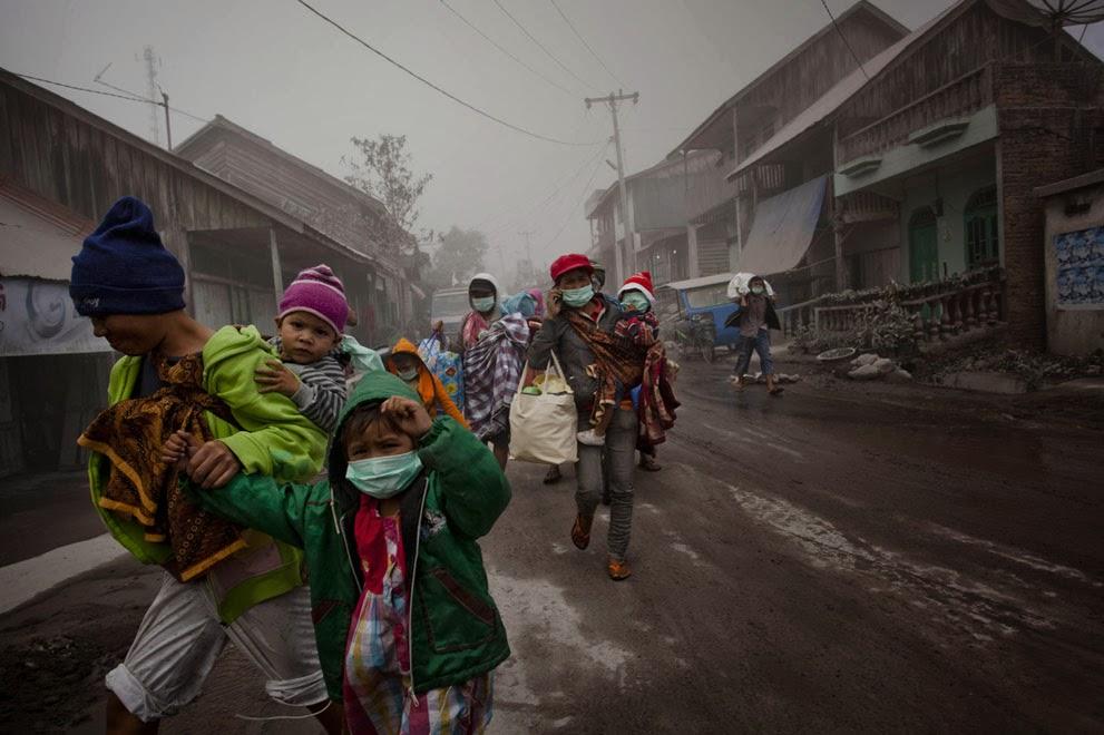 Letusan Gunung Sinabung Sumatra Utara