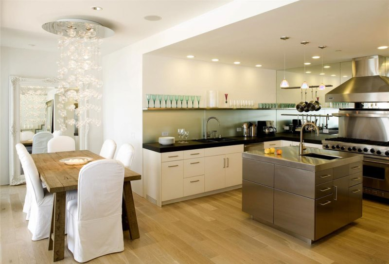 Kitchen Design And Layout Should A Straight Line Form Single Set Or L To Save Space Do Not Let Dining Table