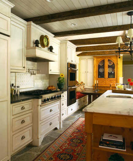 A Kitchen That Brings It All Together In Blackburn: Our French Inspired Home: Rustic Ceiling Beams: Old World
