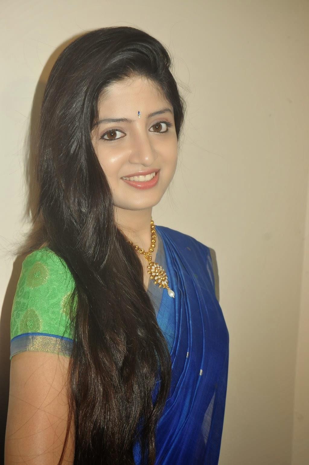 Actress Poonam Kaur Long Hair Stills In Blue Saree