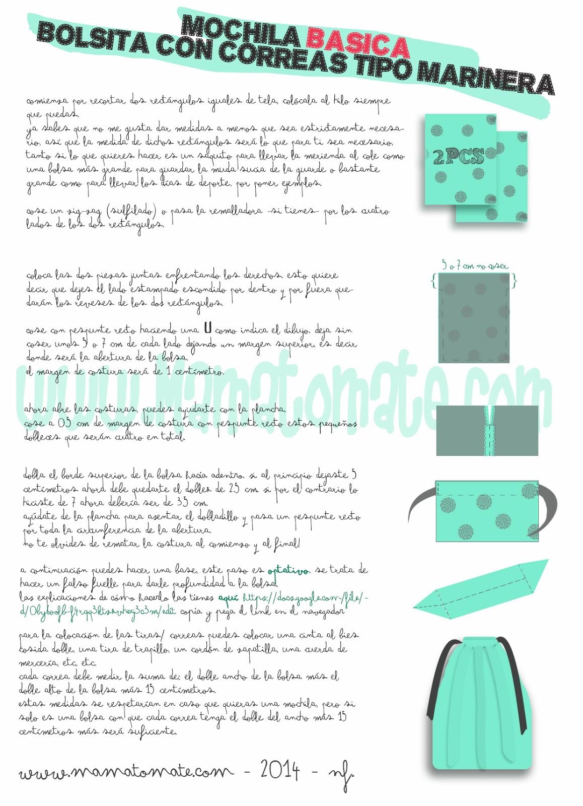 Único Mochila Patrón De Costura Ornamento - Ideas de Patrón de ...