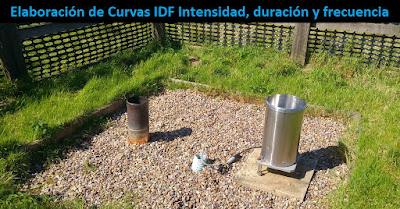 Pluviómetro, Elaboración de Curvas IDF Intensidad, duración y frecuencia