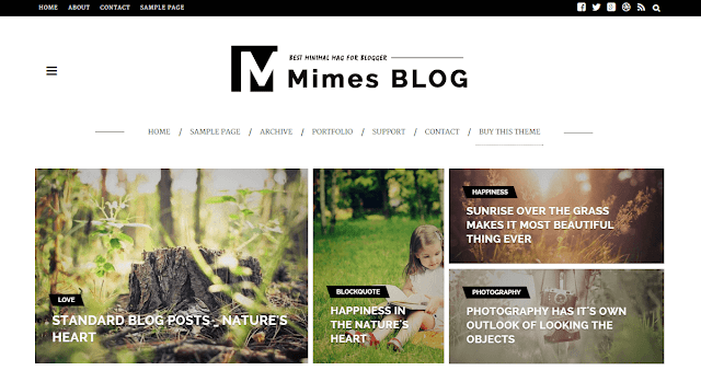 Mimes Blogger Template