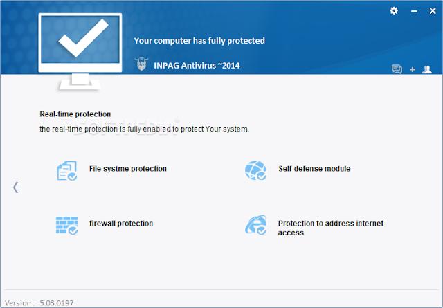 برنامج مجاني لمكافحة الفيروسات والبرمجيات الخبيثة Inpag Antivirus 5.3.198