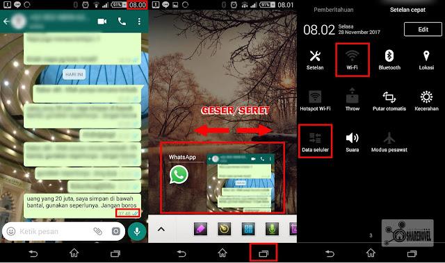 tutup jendela whatsapp yang aktif dan matikan koneksi internet anda - cara menghapus pesan terkirim whatsapp tanpa batas 7 menit - sharehovel