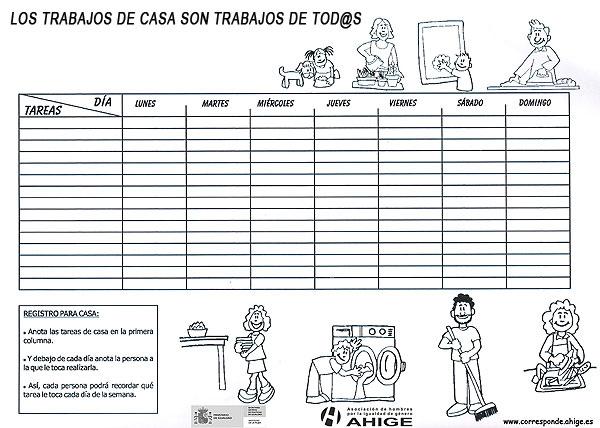 Diajo calendario de tareas dom sticas - Plan de limpieza de una casa ...