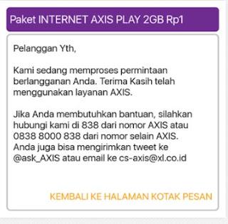 Cara Mendapatkan Kuota Internet Murah Axis Rp1 Dapat 1Gb , 3Gb, 6Gb, Dan 12 Gb