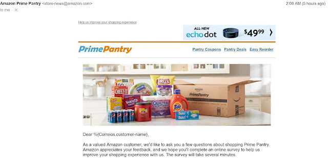 Bad Email Marketing - Amazon - Example