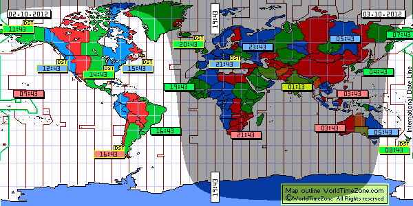 Universal Time Zone Map.Geography 7 Introduction To Geographic Information Sytems World