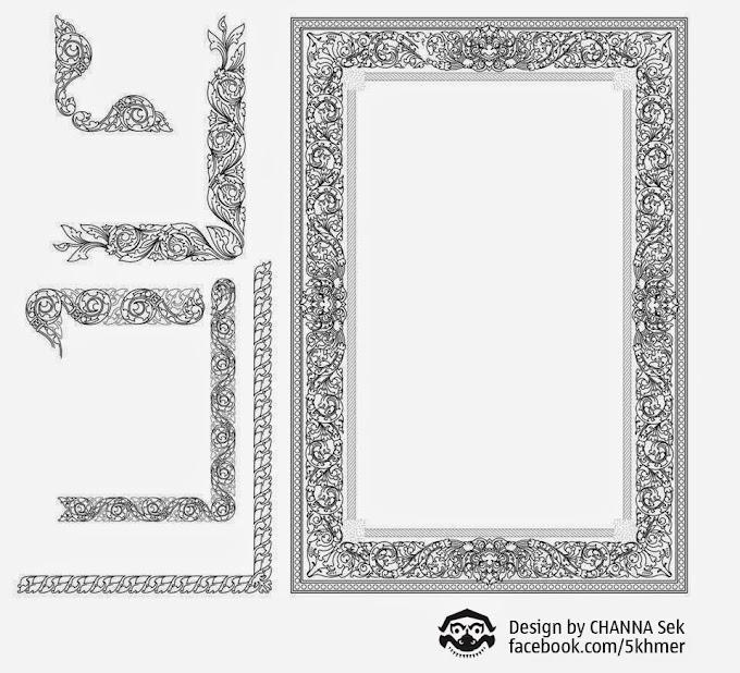 Khmer Ornament Frame Khmer Frame and Some Element