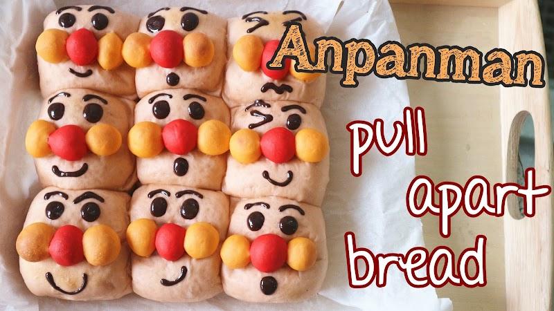 Anpanman pull apart bread 麵包超人麵包