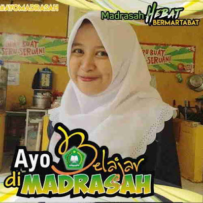 Satu lagi bingkai persembahan Blog  yaitu bingkai foto profil facebook bertaj Bingkai Foto Profil Facebook Ayo Belajar di Madrasah