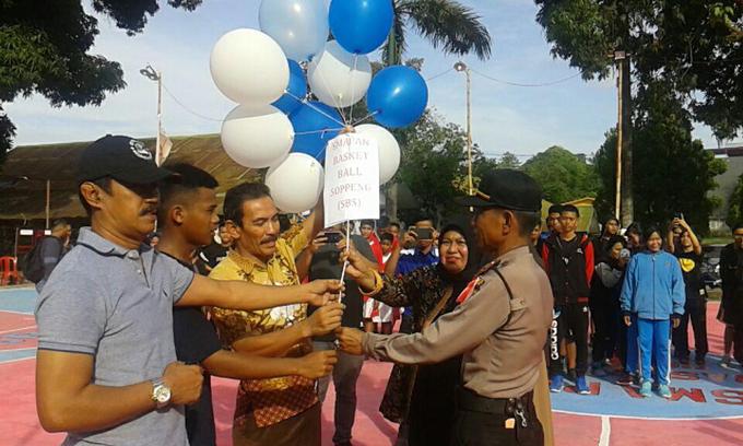 Event Basket Tingkat SMA se-Kabupaten Soppeng Resmi Dibuka