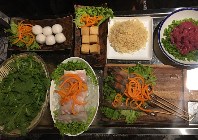 fresh ingredients for Asian hotpot at Hot Pot Chinatown London