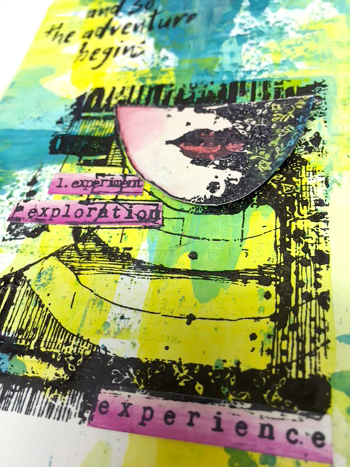 Close up of the PaperArtsy Eclectica³ {Everything Art} stamps