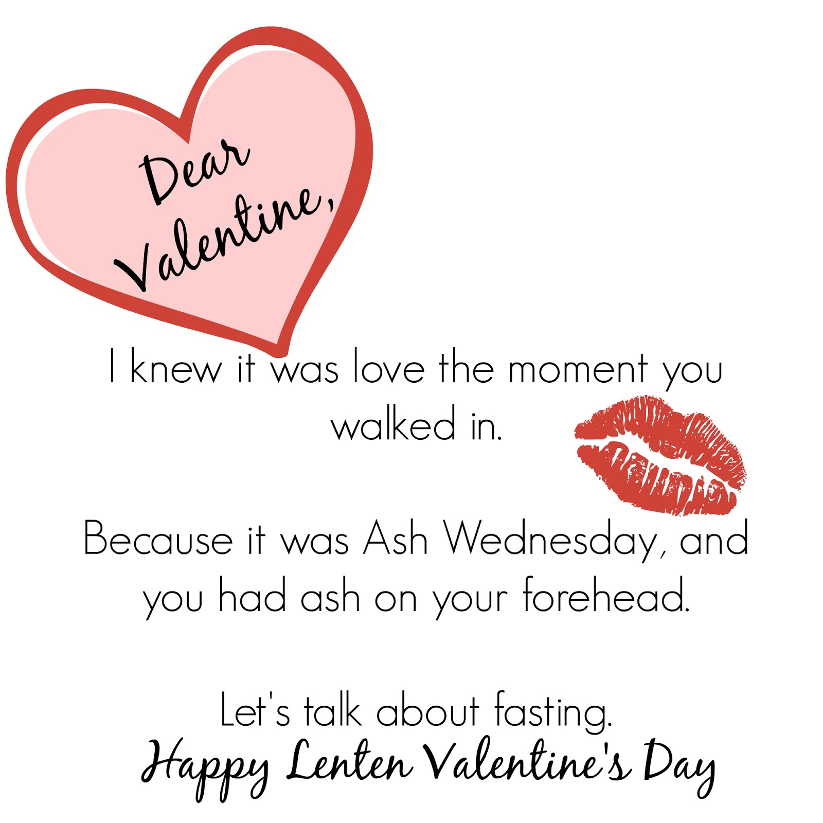 A Blog For My Mom Valentines For Lent