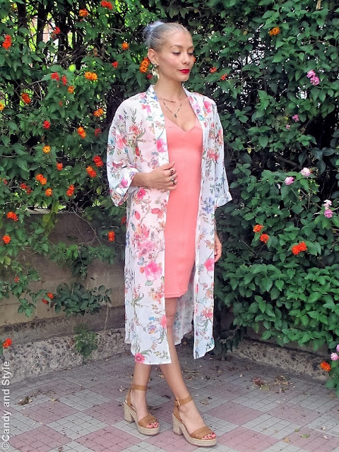 Floral Kimono + Bodycon Dress