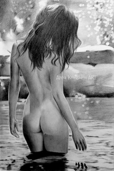 20 Mind-Blowing Pencil Drawings By Greek Artist That Illustrate The Beauty Of Love - Don't love me if you're not here