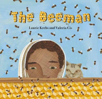 The Beeman by Laurie Krebs, part of children's book review list about bees