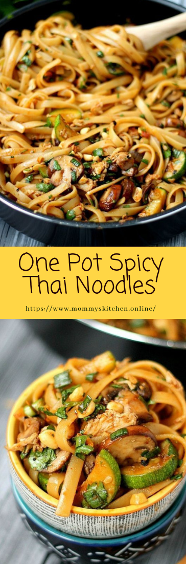 One Pot Spicy Thai Noodles #recipe #healthy