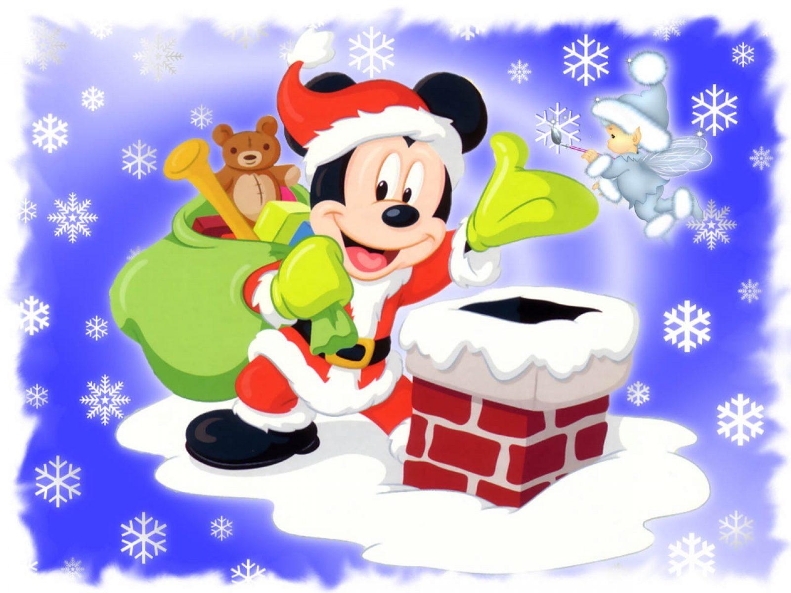 Postal Disney Navidad Mickey Mouse