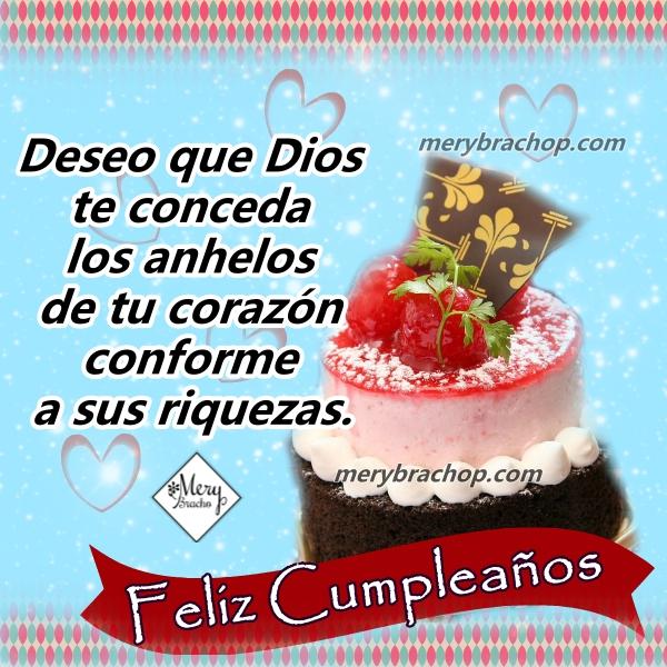 Frases de cumpleaños por Mery Bracho, tarjetas cristianas para hija, amiga, hermana en el día de su cumple, felicitaciones con mensaje cristiano.