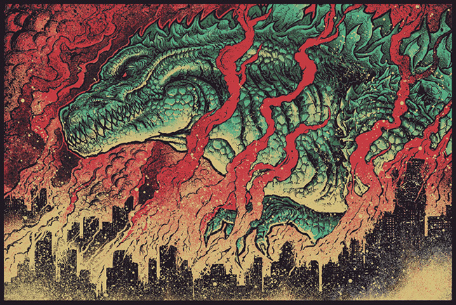 GodMachine (UK) - Godzilla art