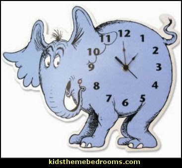 Dr. Seuss Hat Shaped Wall Clock  Dr Seuss bedroom ideas - Dr.Suess bedroom decor - Dr Seuss Bedding - dr. seuss nursery - decorating ideas cat in the hat theme bedrooms - Dr Seuss wall decal stickers - DR SEUSS wall mural decal - Dr. Suess playroom ideas - Dr. Seuss Plush Toys