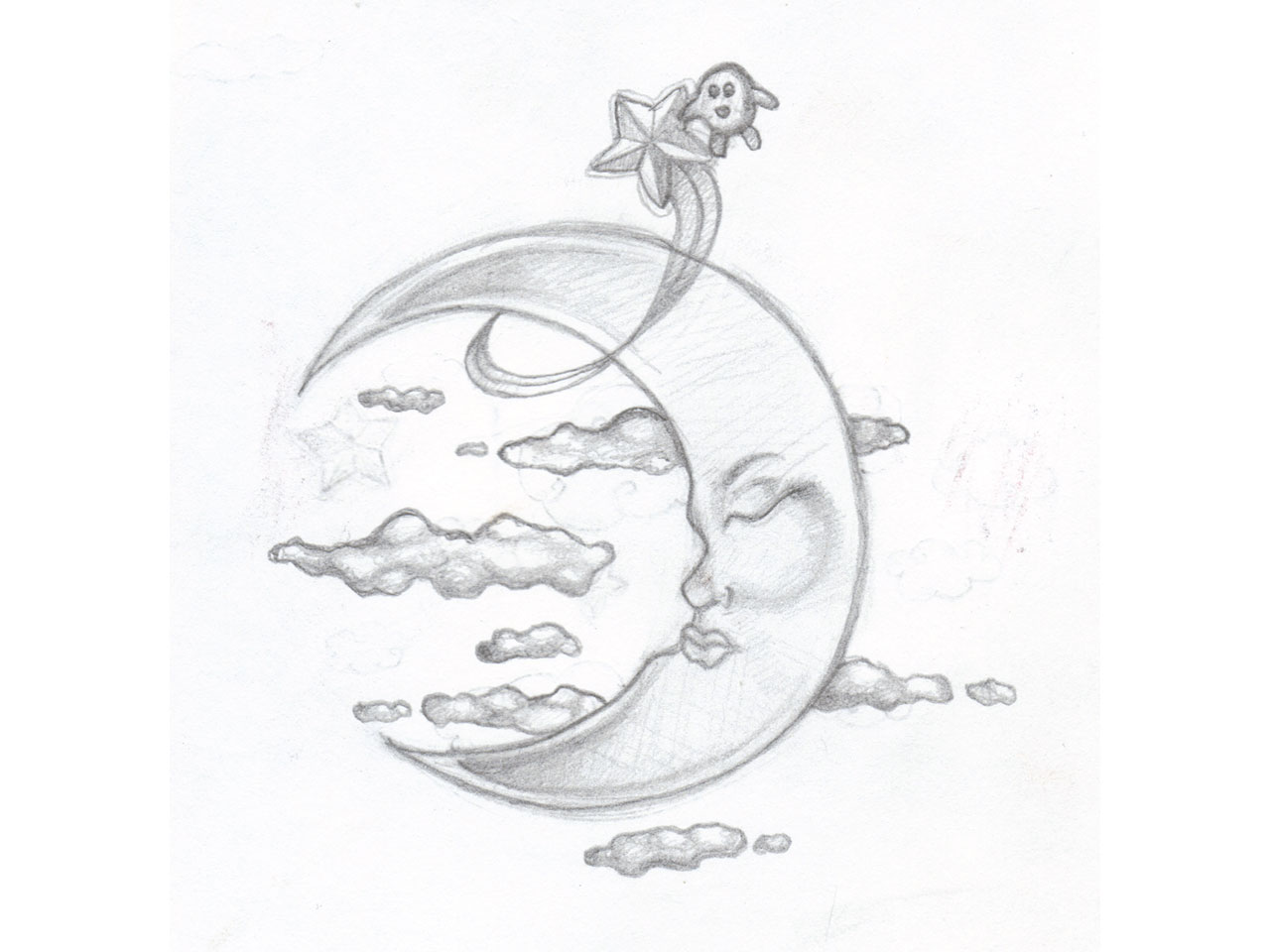 Moon And Cloud Tattoo Small: 11 Great Moon Tattoo Designs