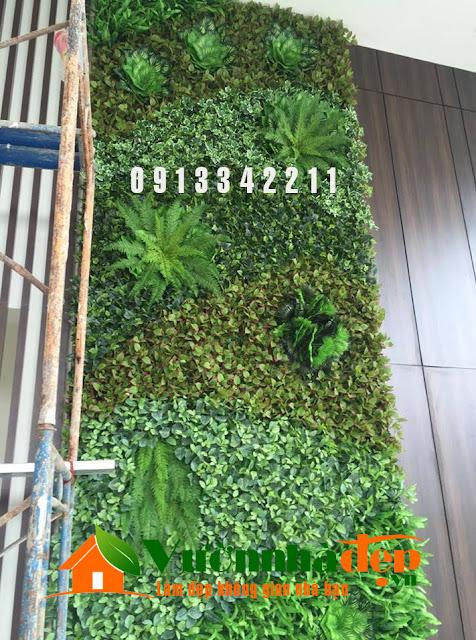 Thi Công tường cây giả - Đẹp như tường cây thật - 24
