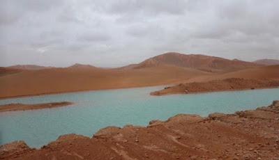 Gurun pasir terbesar di dunia dipenuhi air dan jadi danau