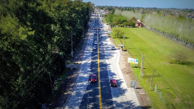 Terminaron las obras de mejoras en la ruta 234 en Pilar