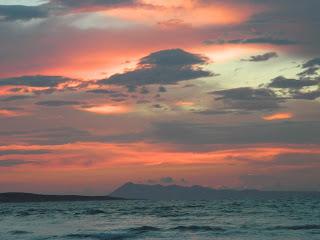 Turbulent skies and sea
