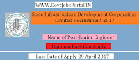 State Infrastructure Development Corporation Limited Recruitment 2017– Junior Engineer