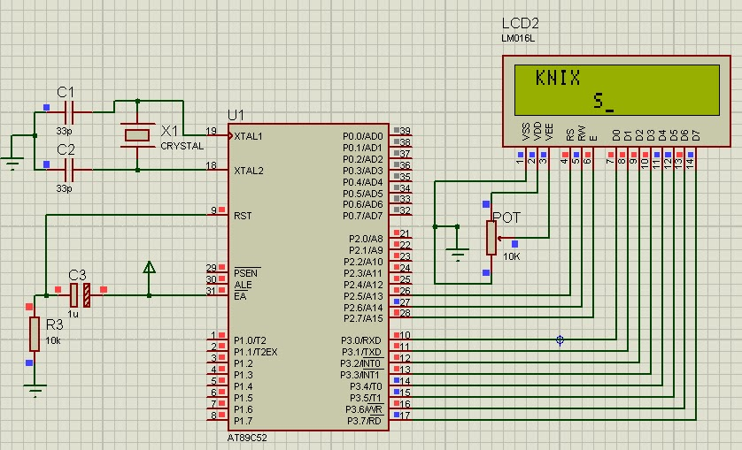16*2 LCD interfacing with 8051 microcontroller - Blogging