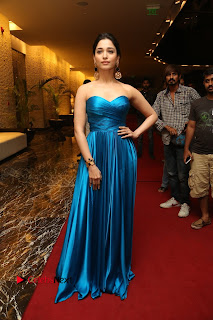Actress Tamannaah Pictures in Blue Long Dress at Abhinetri Audio Launch  0215.jpg