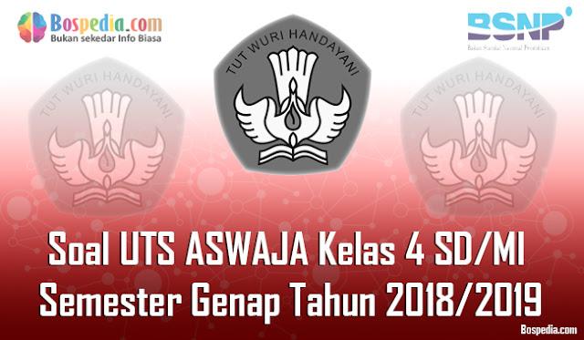 Lengkap - Contoh Soal UTS ASWAJA Kelas 4 SD/MI Semester Genap Tahun 2018/2019