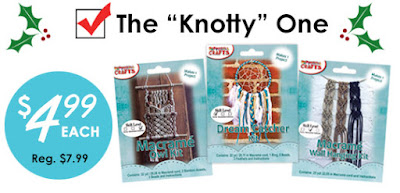Macrame Knot Kits 50% off at MacrameSuperStore.com. Ex. 12/31/16