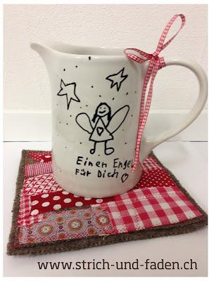 Teekrug mit Porzellanstift