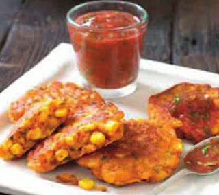 spicy corn fritters with salsa recipe