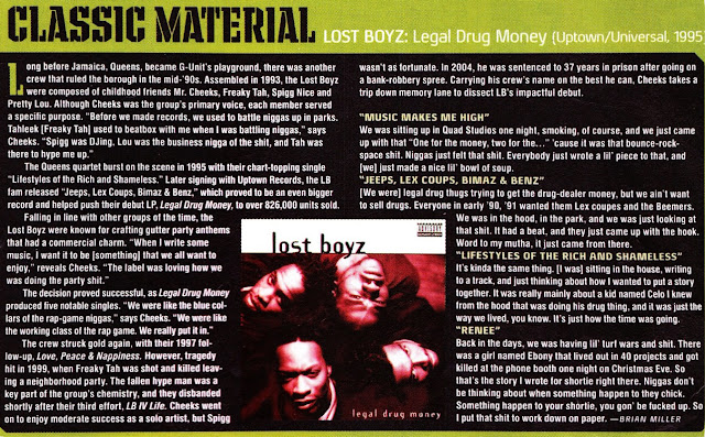 Lost Boyz Legal Drug Money Album Review