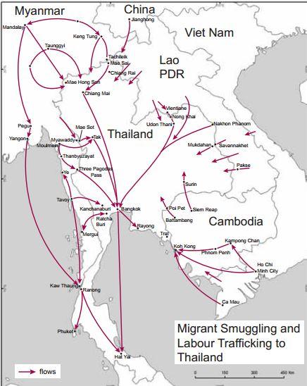 smuggling Asian human