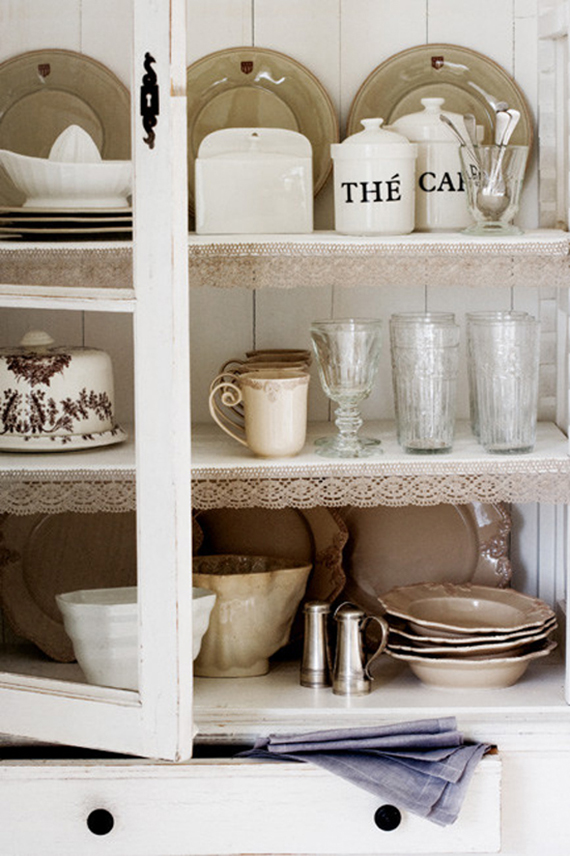Rustic kitchen shelving inspiration | Image via Little Emma English Home