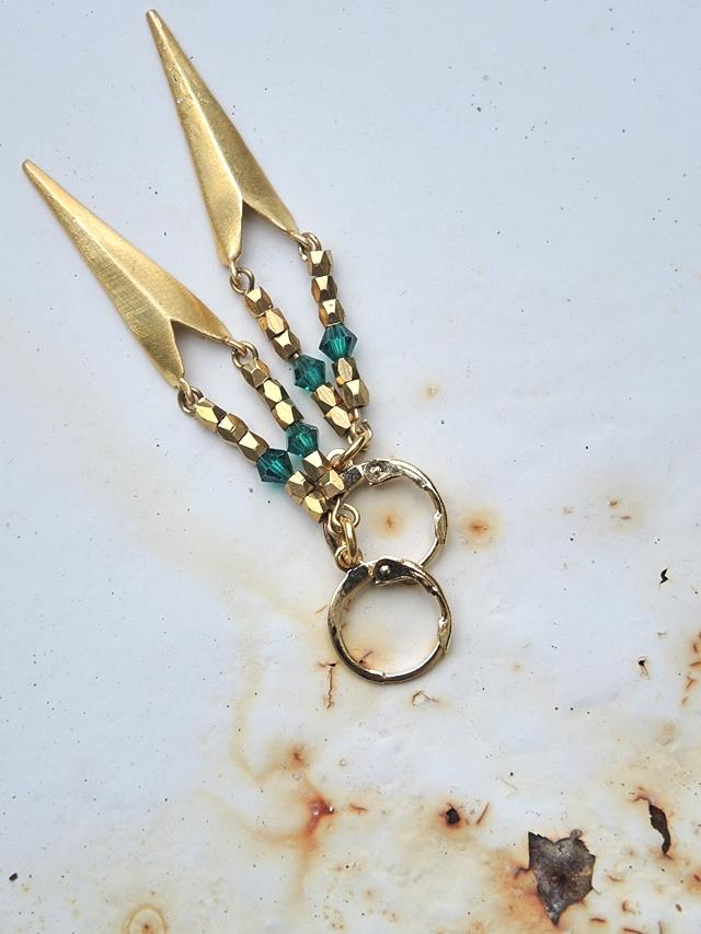 free tutorial for blingbling earrings for new years eve