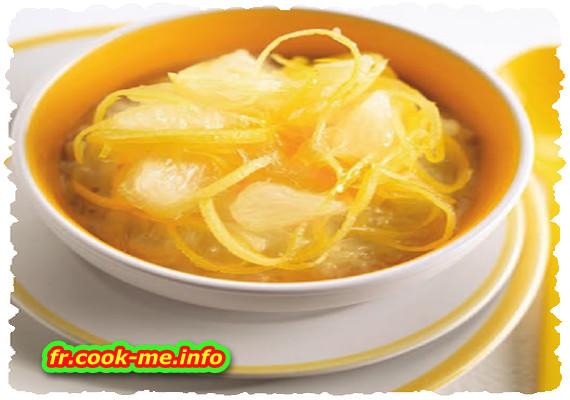 Riz au lait et compote de mangue et citron