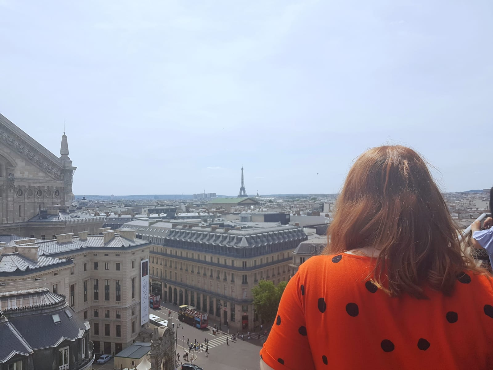 Paris from the roof of Galeries Lafayette