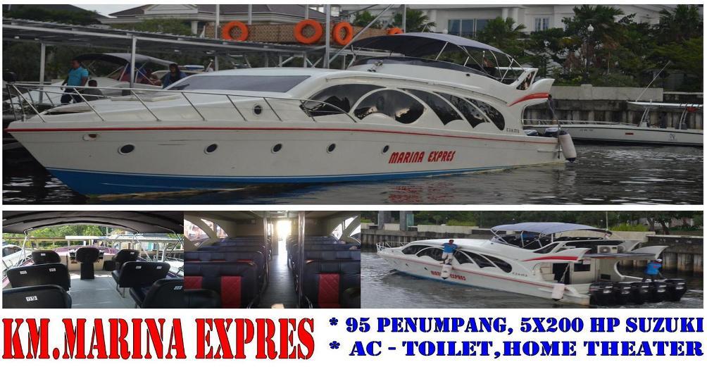 harga sewa kapal speedboat marina express