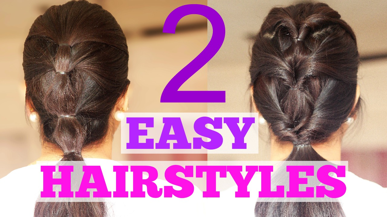 2 QUICK HAIRSTYLES FOR WORK SCHOOL OR THE GYM Debasree Banerjee