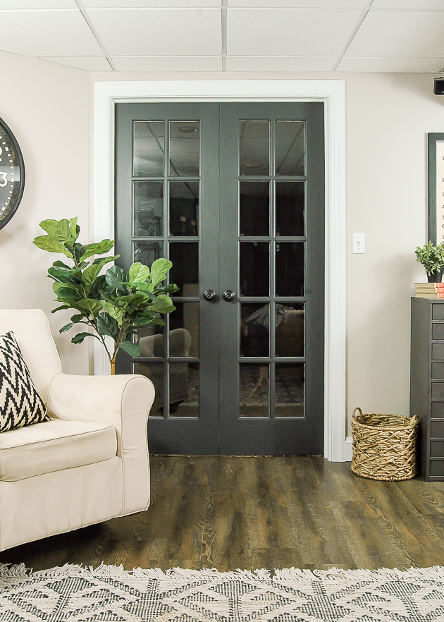 Sherwin Williams Iron Ore painted doors