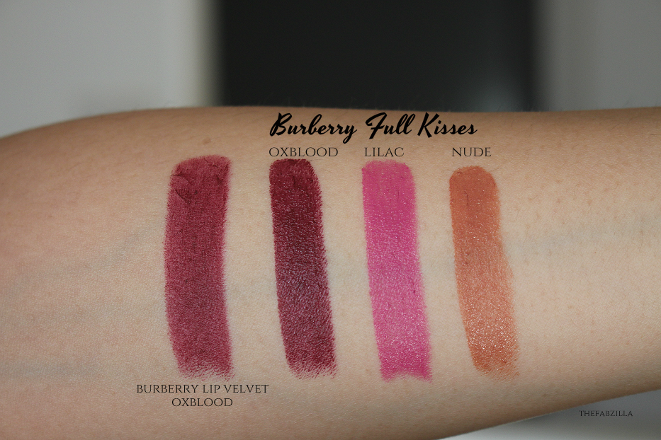 Burberry Full Kisses Lipstick Review Swatch, Mother's Day Gift Guide, Tom Ford Lip Color, Burberry Lip Velvet Oxblood Swatch